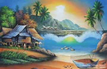 fantastic beach Oil Paintings